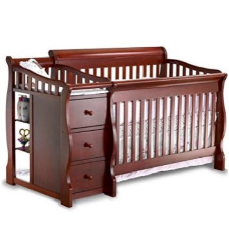 sorelle tuscany 4 in 1 convertible crib and changer espresso. Black Bedroom Furniture Sets. Home Design Ideas