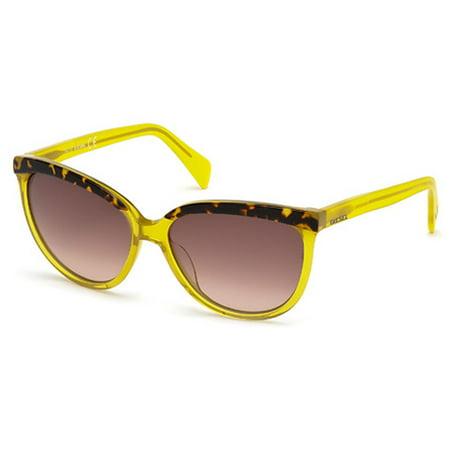Diesel Women's DL0081 Acetate Cat Yellow Sunglasses (Diesel Womens Sunglasses)
