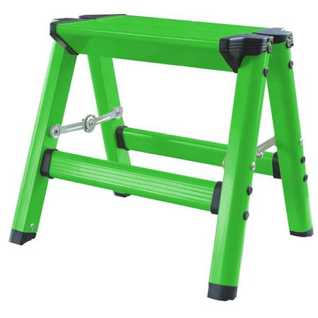 AmeriHome Lightweight Single Step Aluminum Step Stool with Bright Color - Series Aluminum Step