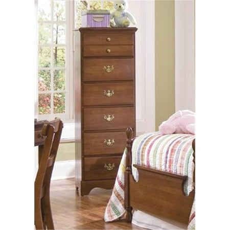 Carolina Furniture 184600 Common Sense Six Lingerie Chest Of Drawer In Traditional Cherry ()