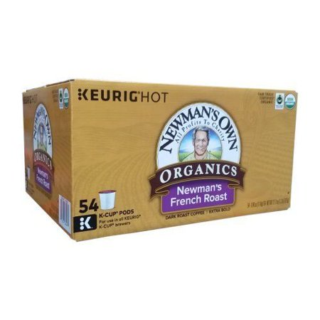 Newman's Own Organics French Roast Extra Bold Coffee K-Cup 54 (Extra Bold Coffee K-cups)