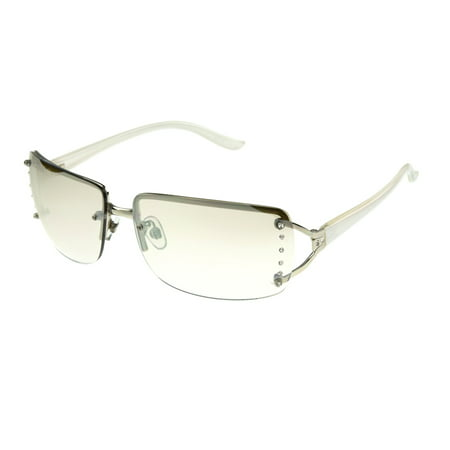 Electric Silver Sunglasses - Foster Grant Women's Silver Shield Sunglasses H01