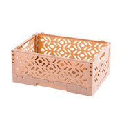 Plastic Folding Storage Container Basket Crate Box Stack Foldable Desktop