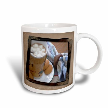 3dRose Hot Chocolate and Marshmallows, Ceramic Mug, 11-ounce
