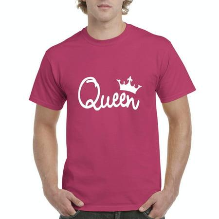 Mens Queen Crown Short Sleeve T-Shirt Queen Bee Jersey T-shirt