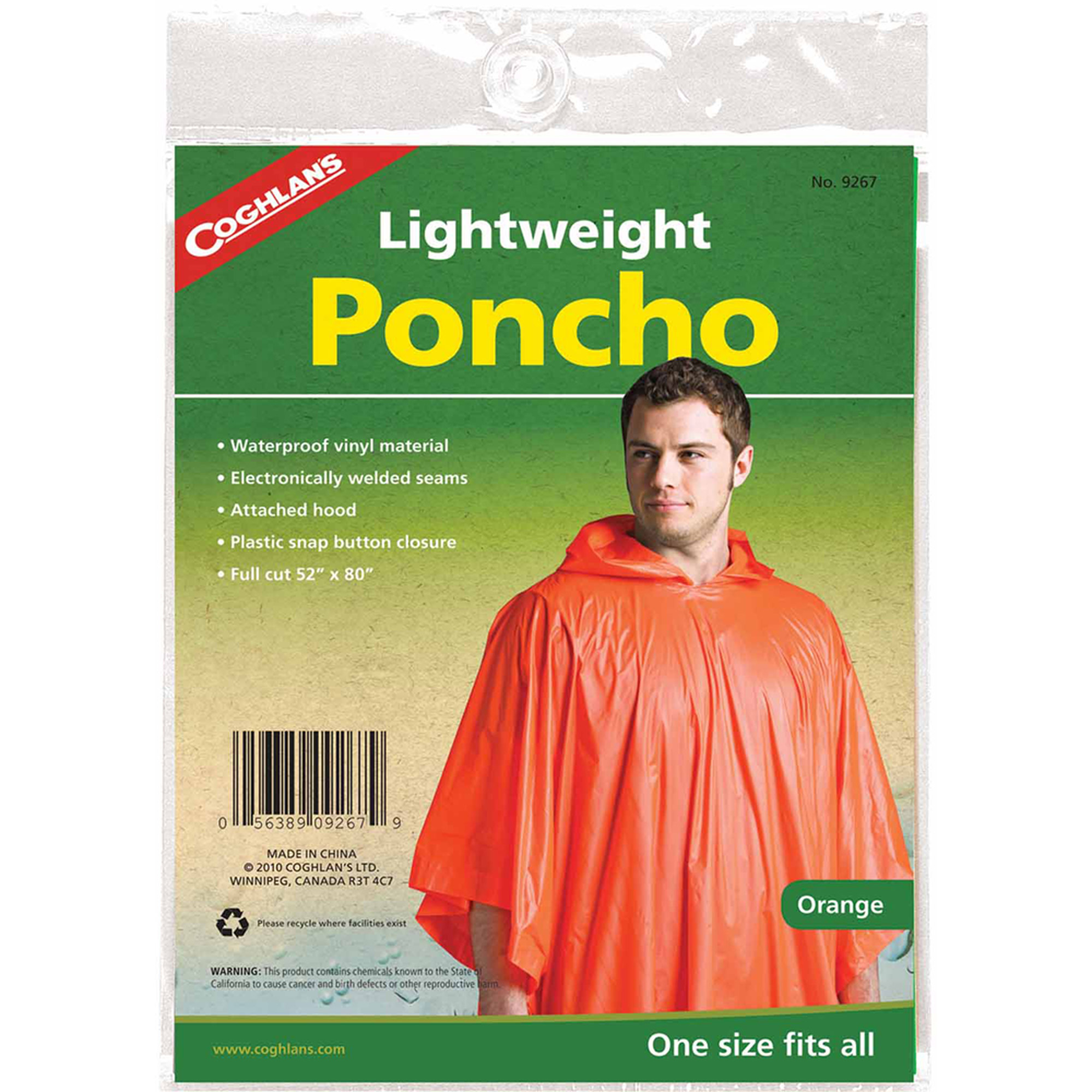 Coghlan's 9267 Poncho, Orange by Generic