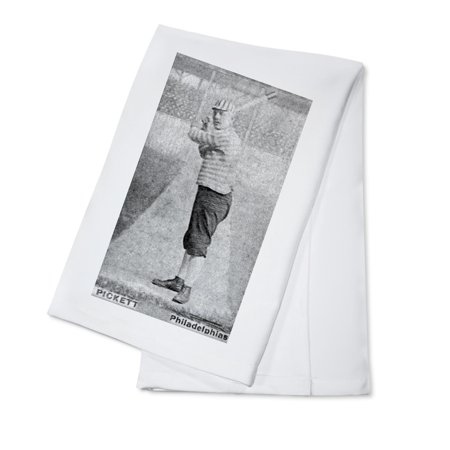 Philadelphia Quakers - John Pickett - Baseball Card (100% Cotton Kitchen Towel)
