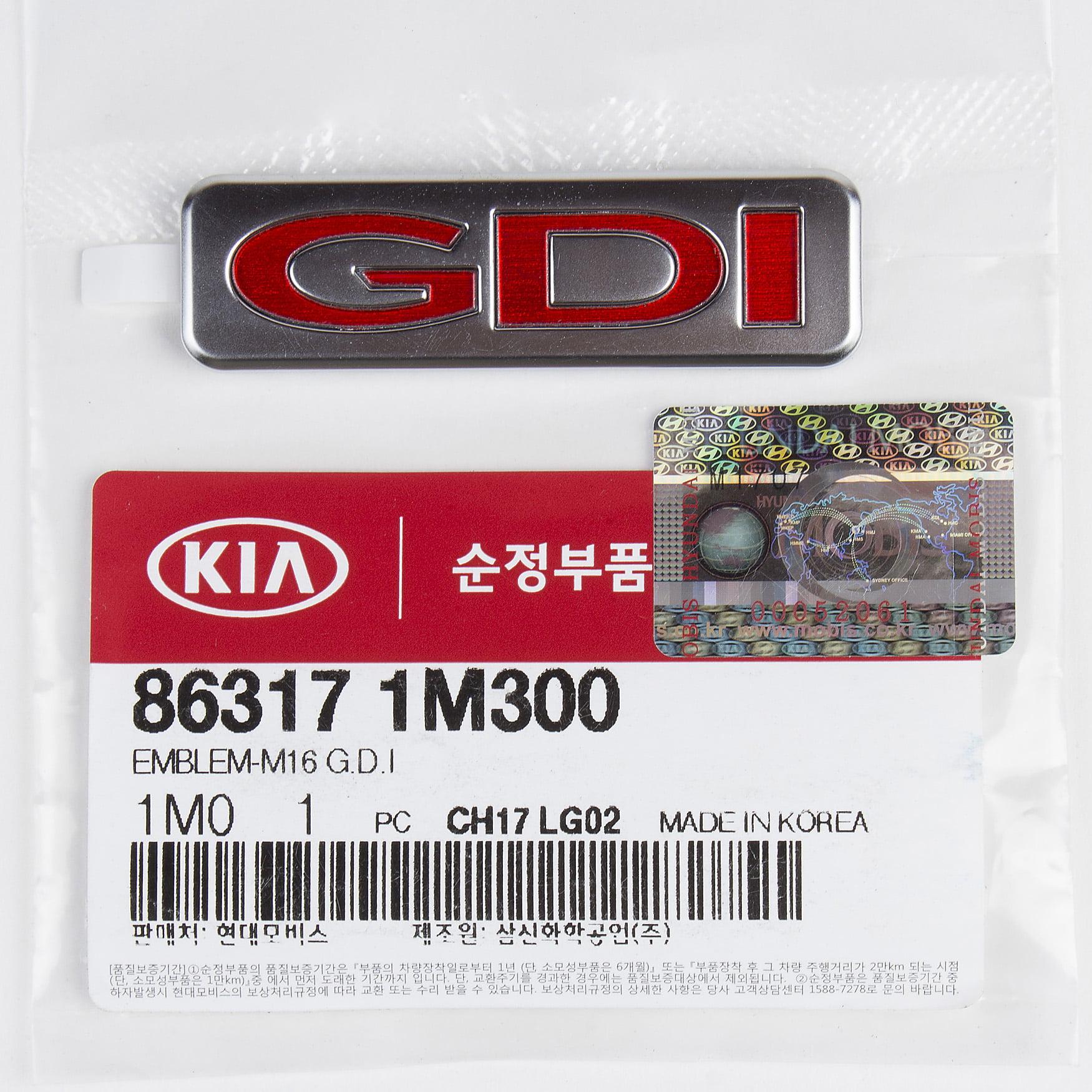 Genuine OEM Hyundai Kia GDI Emblem for Optima Sonata /& Elantra 86317-1M300