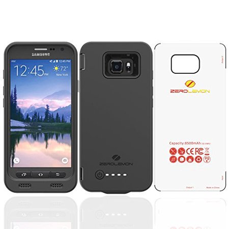 best sneakers c463d 7c025 Samsung Galaxy S7 Active Battery Case, ZeroLemon S7 Active 8500mAh Extended  Battery with Soft TPU Full Edge Protection Case - Black(NOT FOR THE ...