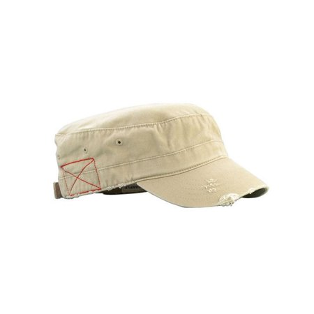 Distressed Logo Cap - Distressed Washed Cadet Army Cap