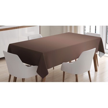 Brown Tablecloth (Ombre Tablecloth, Dark Chocolate Brown Color Inspired Ombre Design for Room Decorations Digital Print, Rectangular Table Cover for Dining Room Kitchen, 60 X 84 Inches, Brown, by)