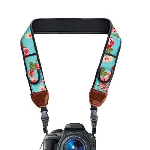 TrueSHOT Digital Camera Shoulder Holster Strap with Accessory Storage Pockets by USA Gear - Works with Canon , Fujifilm , Nikon and More Cameras