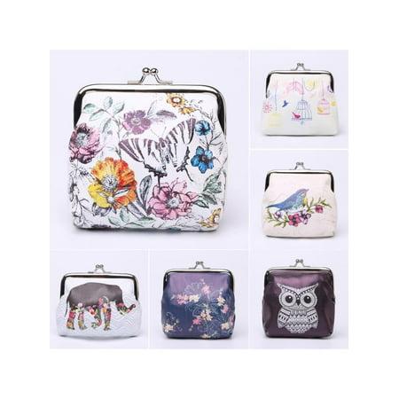 Floral Coin Purse - Meigar Women Coin Bag Floral Mini Wallet Purse Clutch Bag Handbag