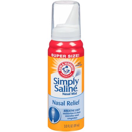 Arm   Hammer  Simply Saline  Nasal Relief Nasal Mist 3 0 Fl  Oz  Spout Top Can