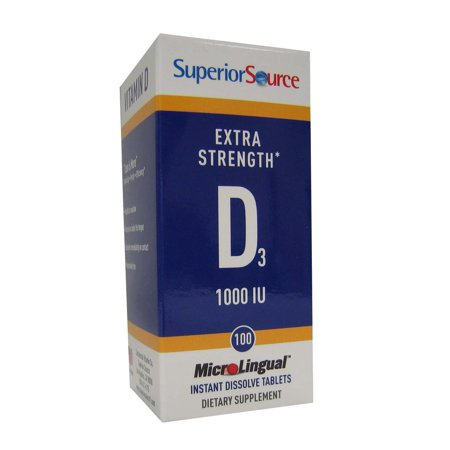 Vitamin D 1,000 IU - Extra Strength Superior Source 100 Sublingual (Foodsource Vitamin)