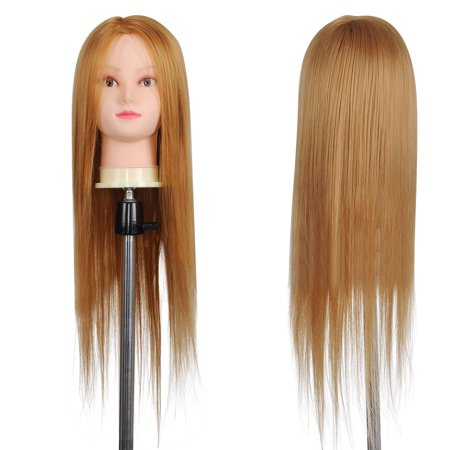 """26"""" Synthetic Hair Salon Hairdressing Training Mannequin Head w/ Clamp Holder - image 4 de 7"""