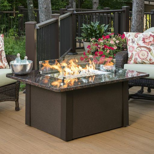 Outdoor GreatRoom Grandstone Crystal Fire Pit Table