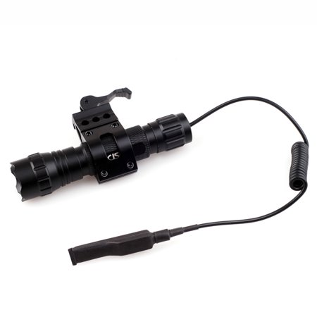 1000lm T6 LED Tactical Flashlight with Quick Release Picatinny Rail Mount