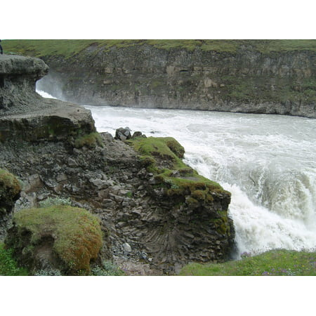 LAMINATED POSTER Iceland Rock Waterfall Nature Force Of Nature Poster Print 24 x 36
