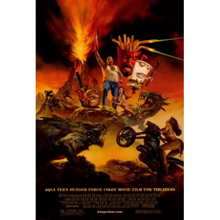 Aqua Teen Hunger Force Colon Movie Film for Theaters (2007) 11x17 Movie (Movie Theater Poster Frames)