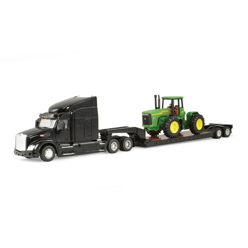 1:32 Peterbilt Model 579 and Lowboy with John Deere 4-Wheel Drive Tractor by TOMY