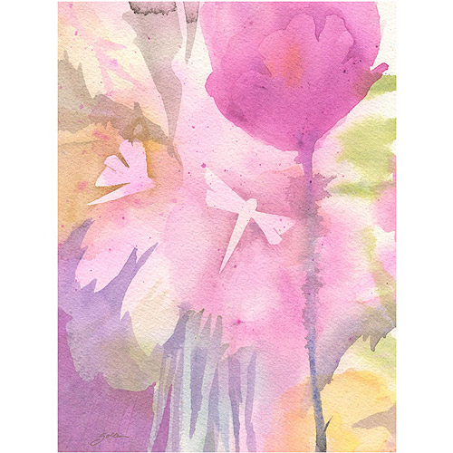 """Trademark Art """"Dragonflies with Pink"""" Canvas Art by Shelia Golden"""