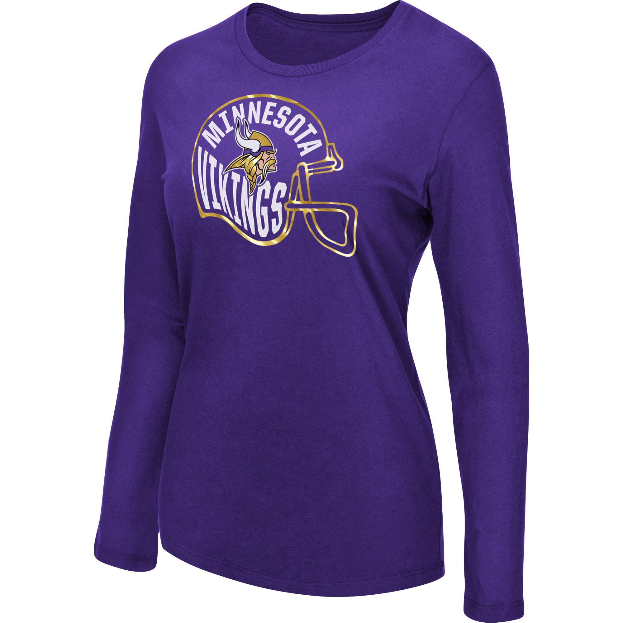 Women's Majestic Purple Minnesota Vikings Turn it Loose Long Sleeve T-Shirt