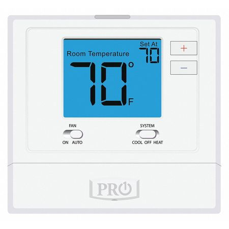 PRO1 IAQ Low Voltage Thermostat,Single Stage1H/1C T701