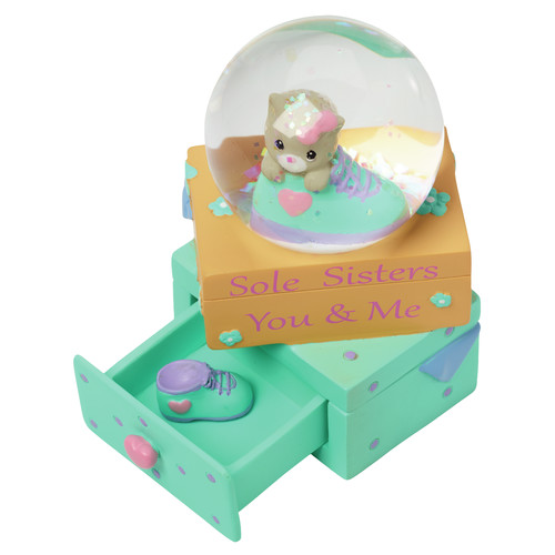 Precious Moments Sole Sisters � You And Me Resin Figurine Snow Globe 154440 by Precious Moments