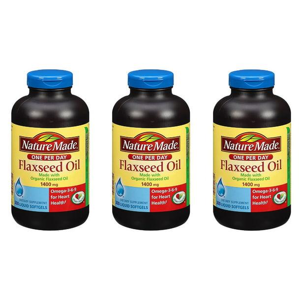 Nature Made Organic Flaxseed Oil 1400mg Omega 3 6 9 300 Liquid