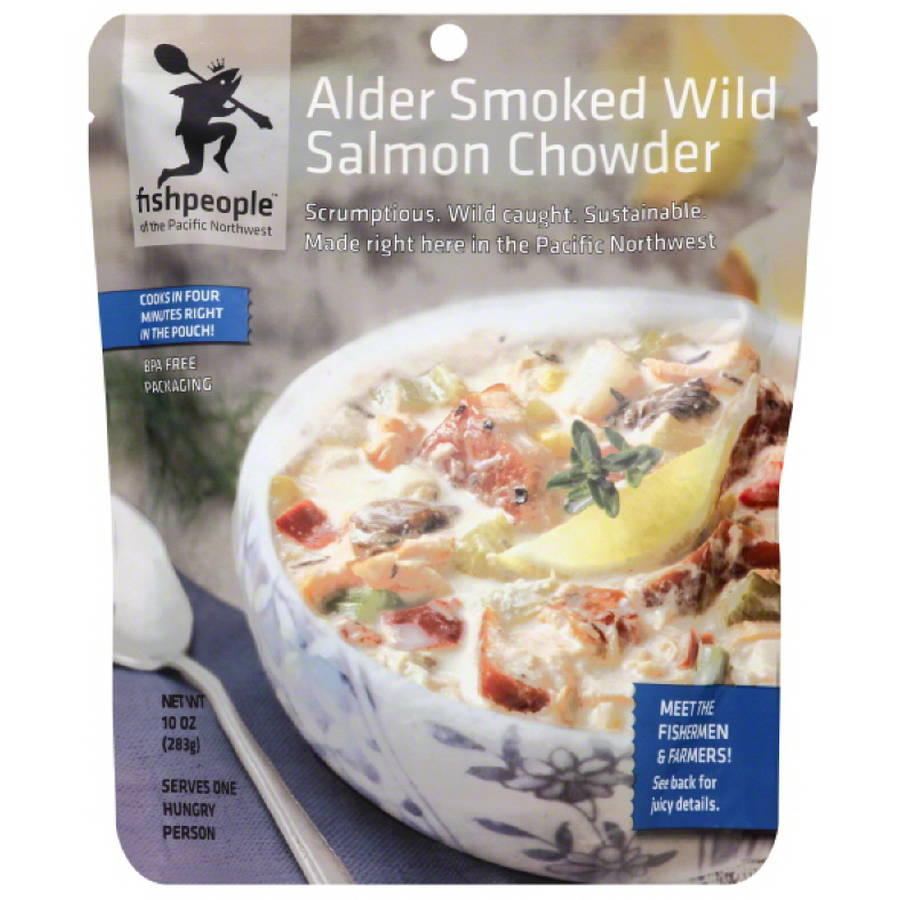 Fishpeople Alder Smoked Wild Salmon Chowder, 10 oz, (Pack of 12)