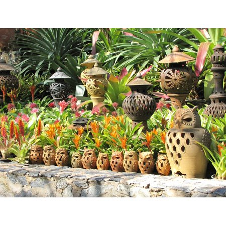 LAMINATED POSTER Nong Nooch Garden Tropical Garden Ceramics Poster Print 24 x 36 - Walmart.com