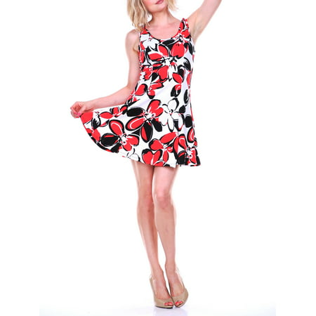 Women's Flower Fit and Flare Dress