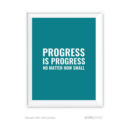 Progress is progress no matter how small Motivational Wall Art, Inspirational Quotes for Home Office