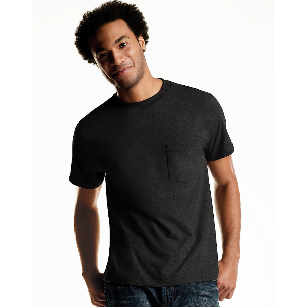 Hanes black t shirts xxl - Hanes Big Men S Freshiq Tagless Comfortsoft Dyed Pocket Tee 4 Pack Walmart Com