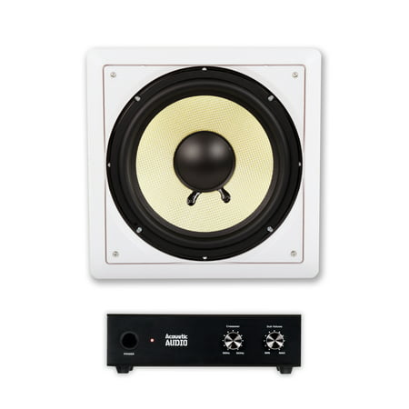 acoustic audio hd s10 in wall 10 home theater passive subwoofer speaker and amplifier. Black Bedroom Furniture Sets. Home Design Ideas