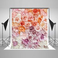 GreenDecor Polyester Fabric 5x7ft Photography Backdrops flower wedding backdrops photo flowers baby background