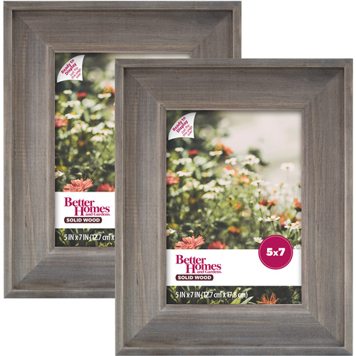 Better Homes and Gardens 5x7 Rustic Wood Picture Frame, 2pk