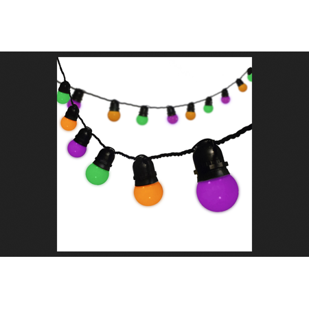 Sylvania LED Cafe Lights Lighted Halloween Decoration 12 ft. L 1 (Halloween Lights)
