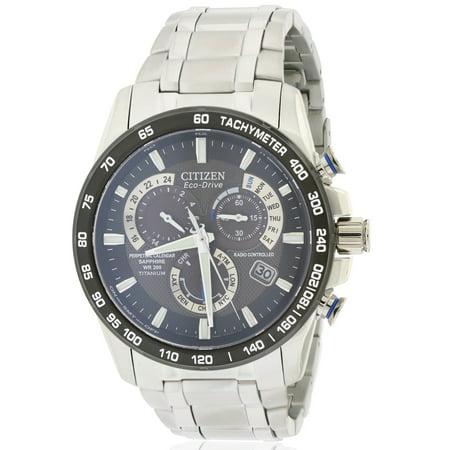 Citizen Eco-Drive Titanium Perpetual Atomic Mens Watch AT4010-50E