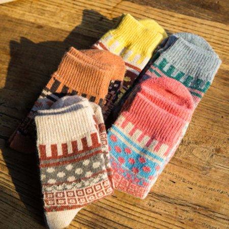 Fancyleo Women Lady Autumn Winter Warm Rabbit Wool Blend Thickened Sweet Tube Socks UK
