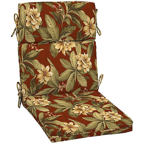 Arden Floral High Back Chair Cushion With Welt Walmart Com