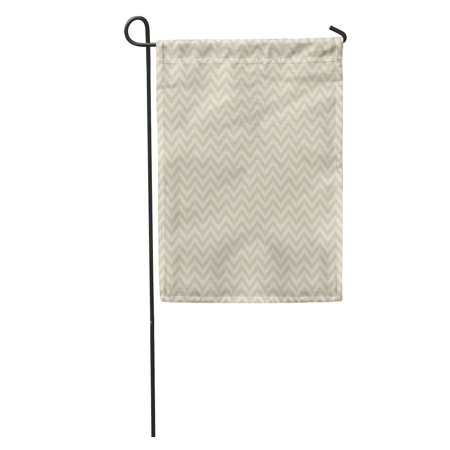 Fall Decorative Banner - LADDKE Tan Neutral Chevron Pattern Cream Grey White Fall Ecru Garden Flag Decorative Flag House Banner 12x18 inch