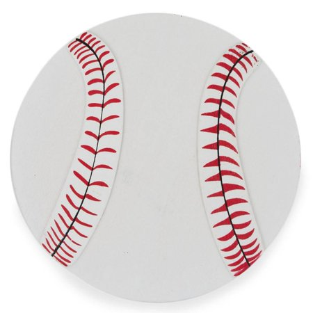 Wooden Hand Painted Baseball Cut Out 5 Inches (Wholesale Cut Out)