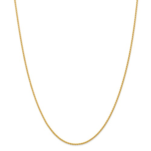 14k Yellow Gold 30in 1.5mm Parisian Wheat Necklace Chain by Jewelrypot