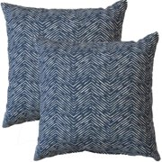 FHT Premiere Home Cameron Premier Navy 17-inch Throw Pillow - Set of 2