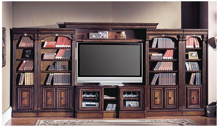 6 Pc Home Office And TV Entertainment Wall Unit   Huntington