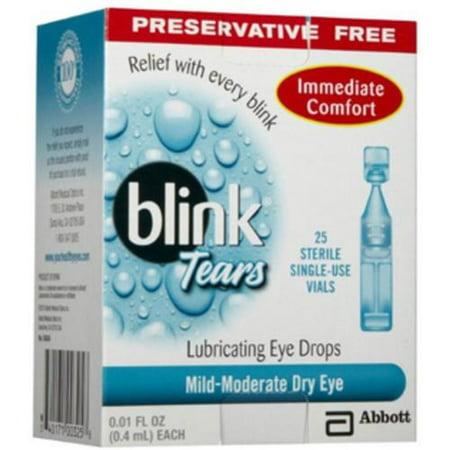 blink Tears Lubricating Eye Drops Mild-Moderate Dry Eye 25 Each (Pack of 4)