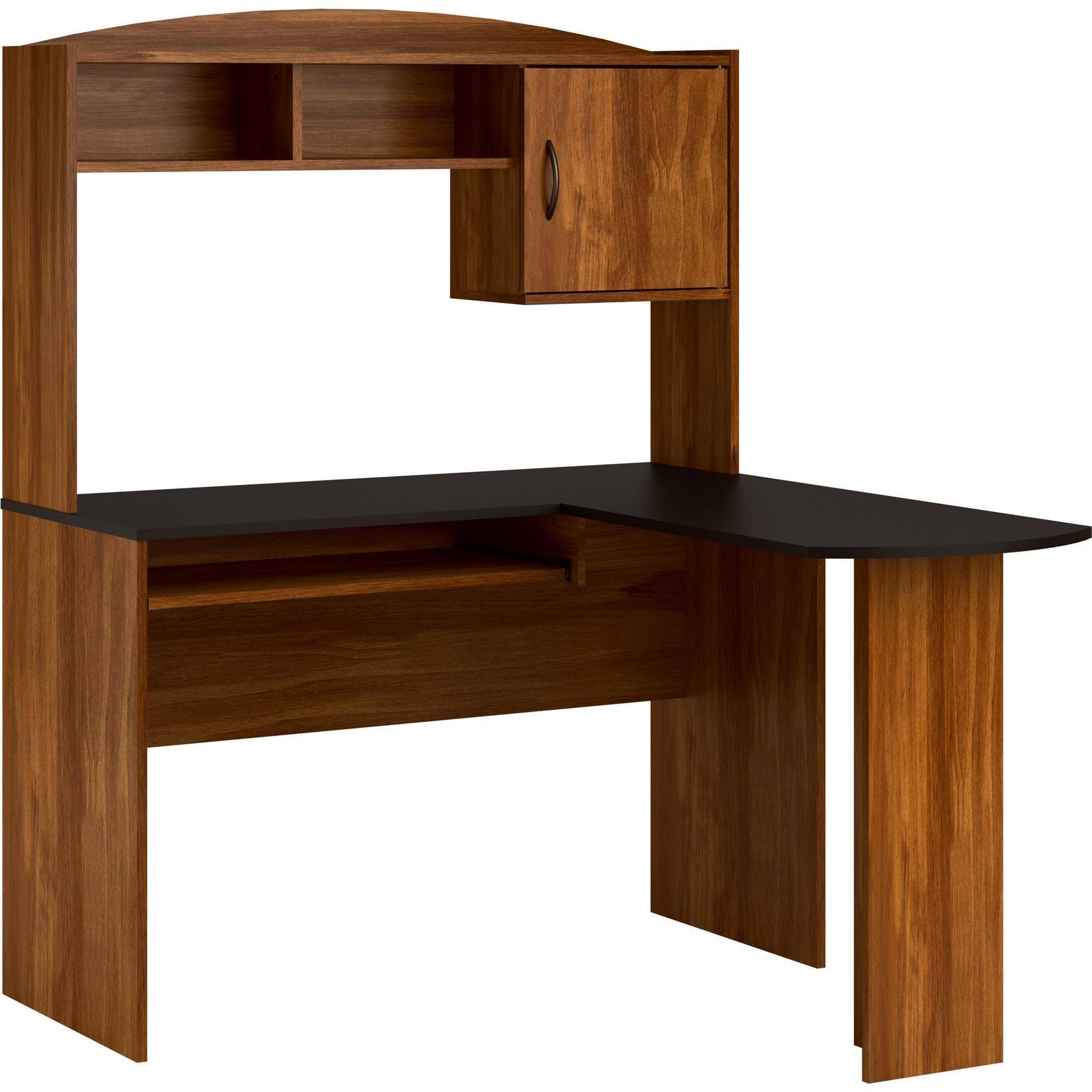 Home Office L Shaped Desk mainstays l-shaped desk with hutch, multiple finishes - walmart