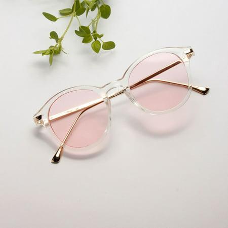 e0eb02e2c545 Women s Vintage Style Shades Fashion Oversized Designer Sunglasses Eyewear  Pink - Walmart.com
